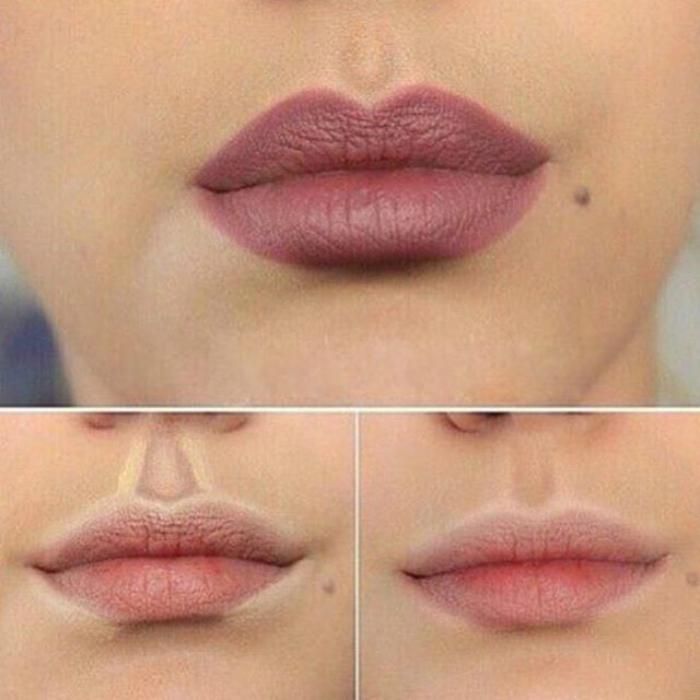 Контуринг губ.