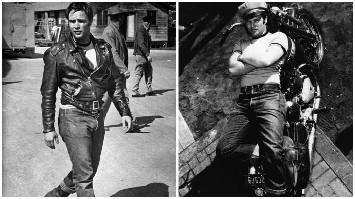Благодаря Марлону Брандо джинсы перестали считаться исключительно рабочей одеждой.