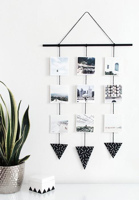 Необычная композиция из подвесных картин позволит украсить и освежить даже самый скучный интерьер комнаты.