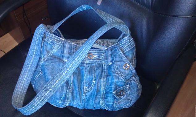 Модная сумка из старых джинсов, фото № 37
