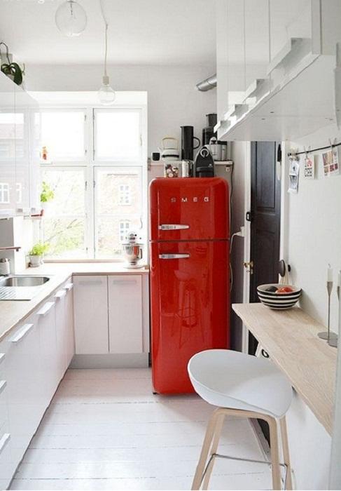 Минимализм в оформлении интерьера кухни.