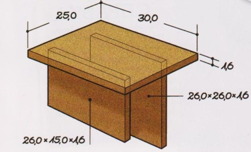 Столик на диван своими руками