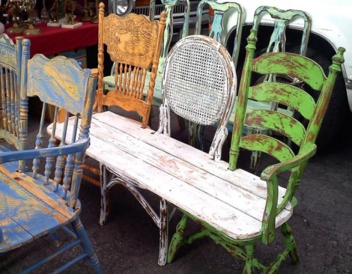 Садовая мебель в винтажном стиле.