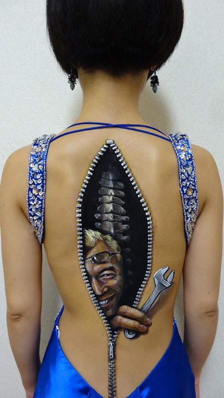 3D рисунки на теле рисунки, тело, фото