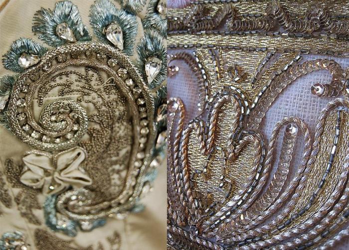 Вышивки мастерской Lesage в стиле барокко.