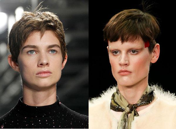 Стрижки в мужском стиле (Christopher Kane и Givenchy)