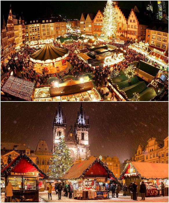 Столица Чехии в рождественские и новогодние праздники превращается в настоящую сказку (Прага).   Фото: intourist-tour.com/ zlatapraha.net.