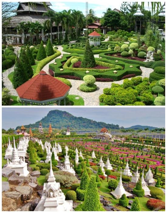 Nong Nooch Tropical Garden – этот чудо-сад создан в европейском стиле, украшенный тайскими архитектурными элементами (Таиланд). | Фото: webmechta.com.