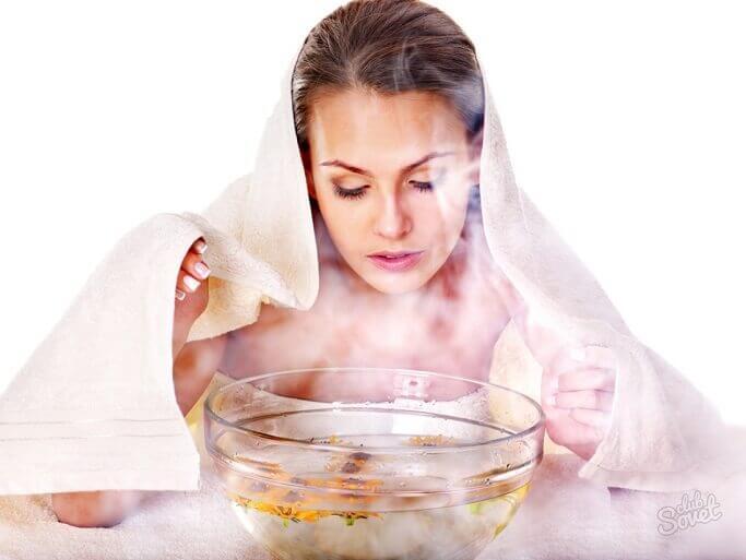 Полезны будут и различные паровые ванночки для лица