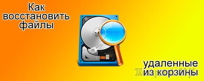 Скачать программе для восстановления файлов в корзине