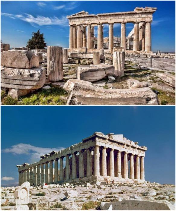 Парфенон построен на месте разрушенного ранее храма богини Афины (Афины, Греция). | Фото: getyourguide.ru.