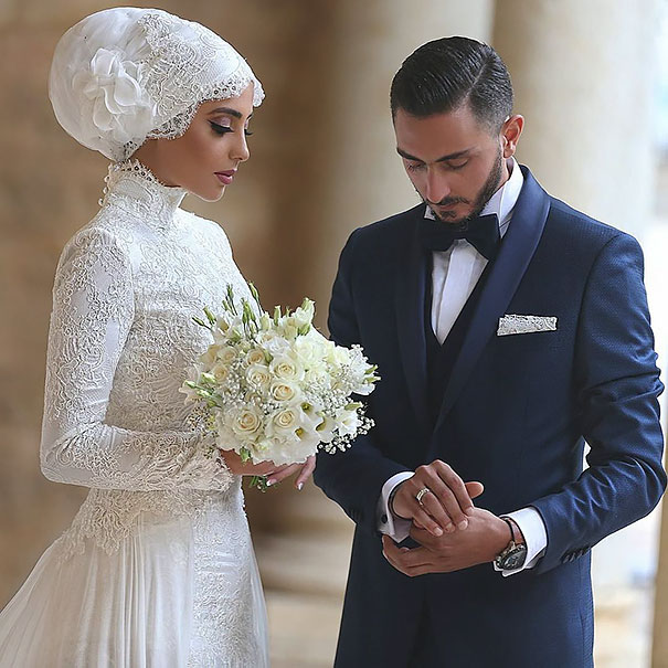 10 Brides Wearing Hijabs On Their Day Look Absolutely Stunning Bored Panda