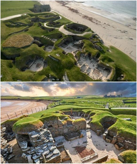 Древнейшая стоянка Скара-Брей на территории залива Скайл - самая большая в Европе на сегодняшний день (Шотландия).   Фото: incomartour.com.ua.