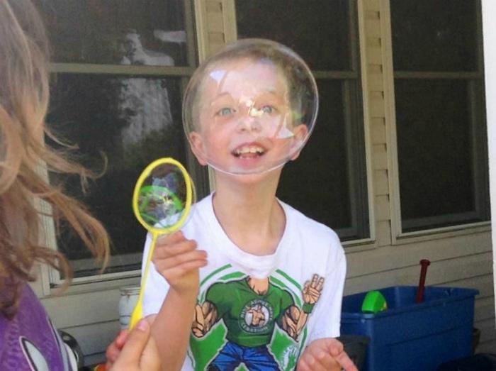 Забавный мыльный пузырь.   Фото: zapilili.ru.