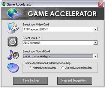 Программа для ускорения компьютера Game-Accelerator