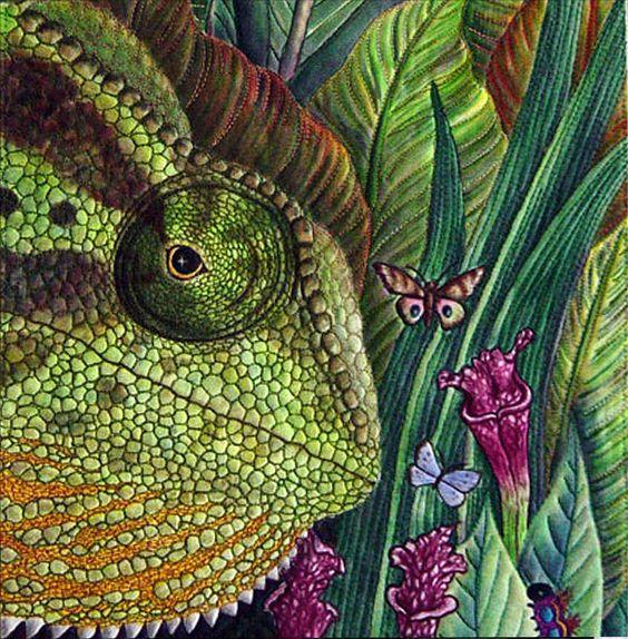 #chameleon #quilt: