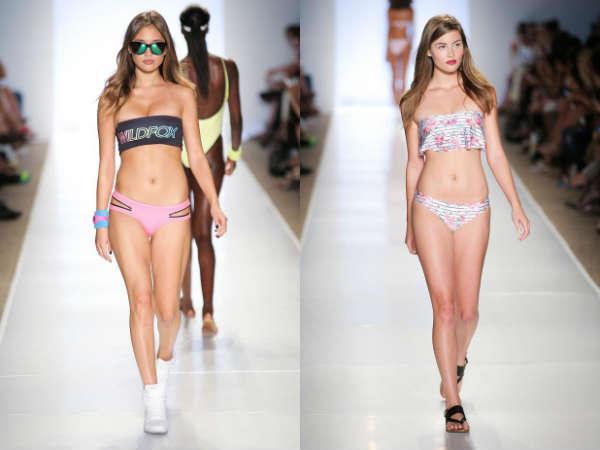 Модные купальники без бретелей лето 2015