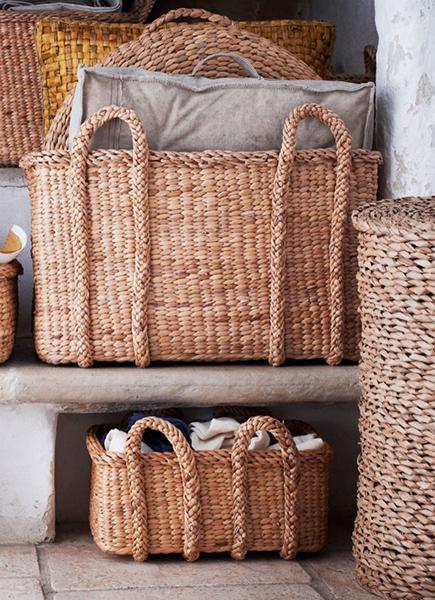 Оригинальные плетеные корзины ручной работы.