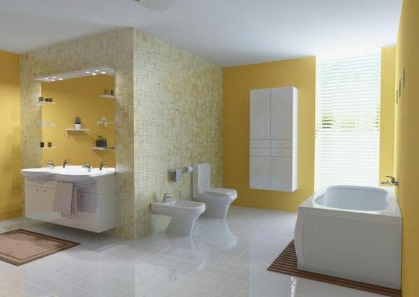 Нарядеая ванна в жёлтых тонах