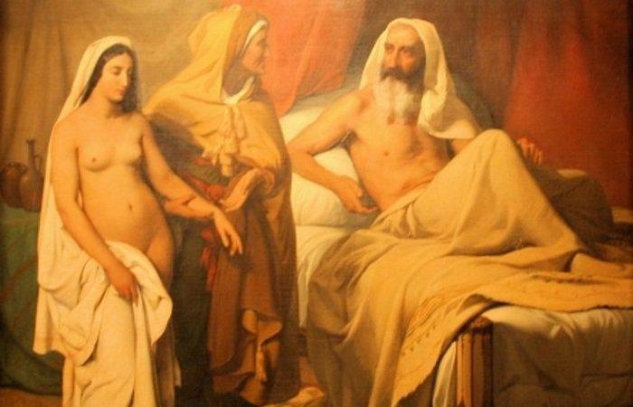 Сара приводит Агарь к Аврааму. Жюль Ришом.
