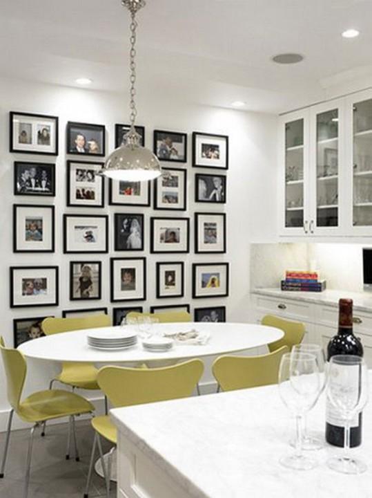 как разместить фотки на стене