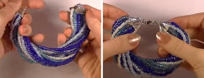 Готовый перекрученный браслет