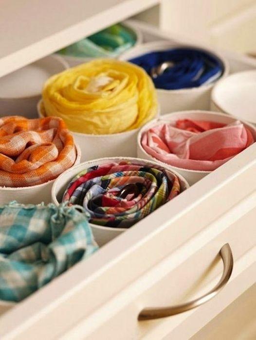 Хранение шарфов и платков