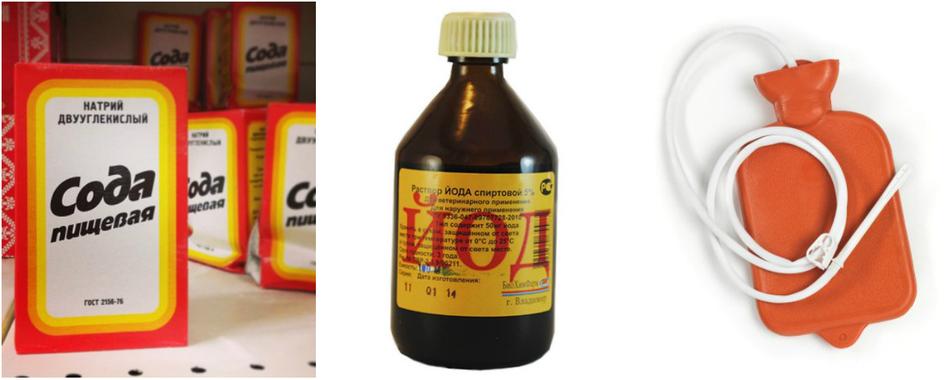 сода и йод от паразитов