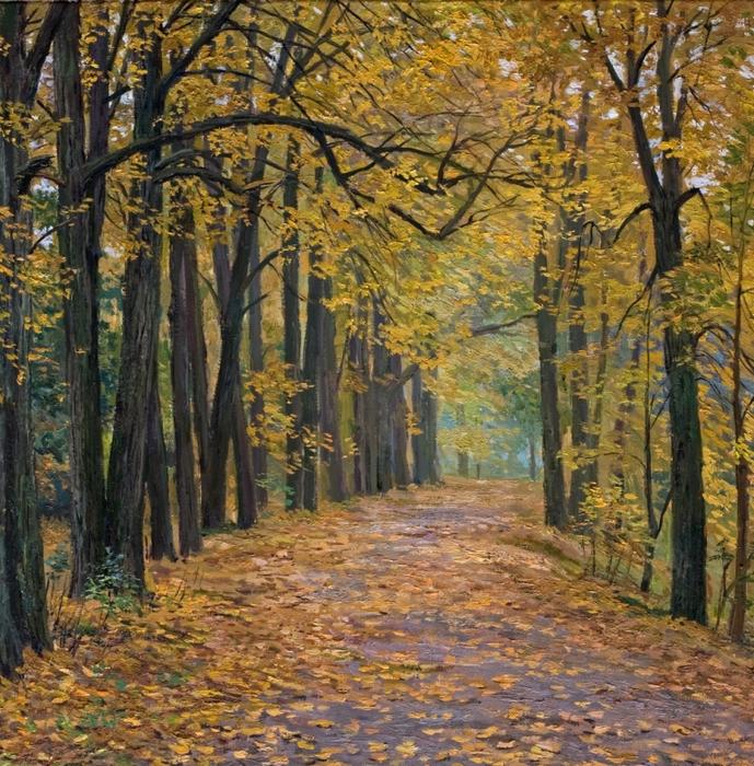Осенняя аллея (689x700, 673Kb)