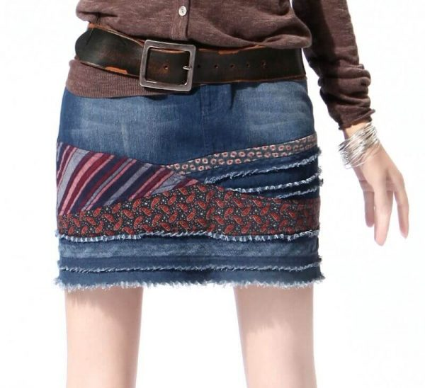 Превращаем джинсы в стильную юбку