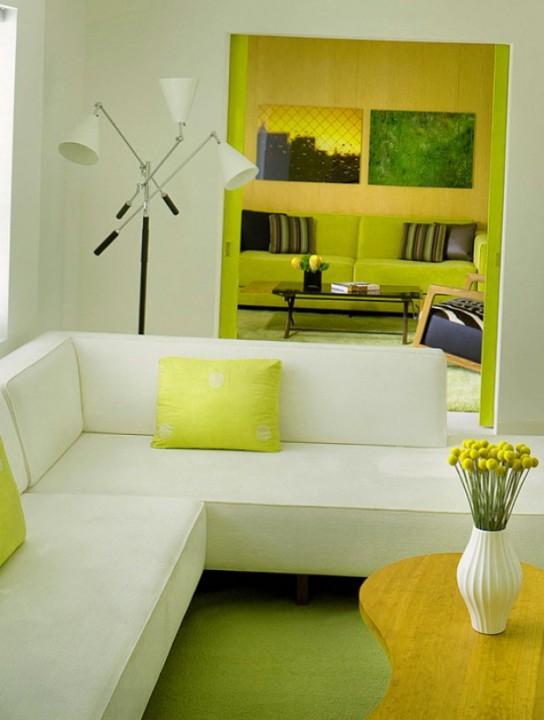 Мягкий угловой диван в интерьере дома