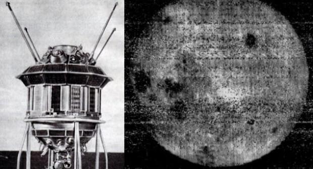 Спутник «Луна-3» и фото обратной стороны Луны