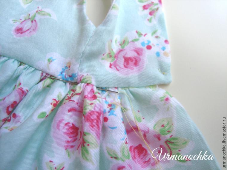 Подробный мастер-класс  шьем очаровательное платье для куклы —  Самоделкино.Инфо — своими руками. Фото, идеи и чертежи adb72bbdb10