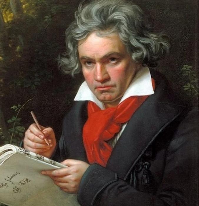Портрет Бетховена работы Йозефа Карла Штилера, 1820 год
