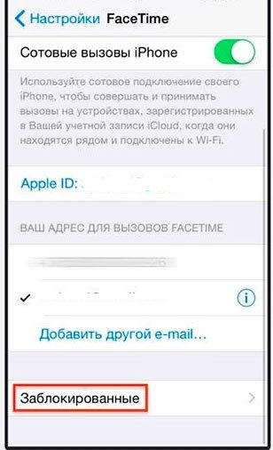 Настройка Фейстайм