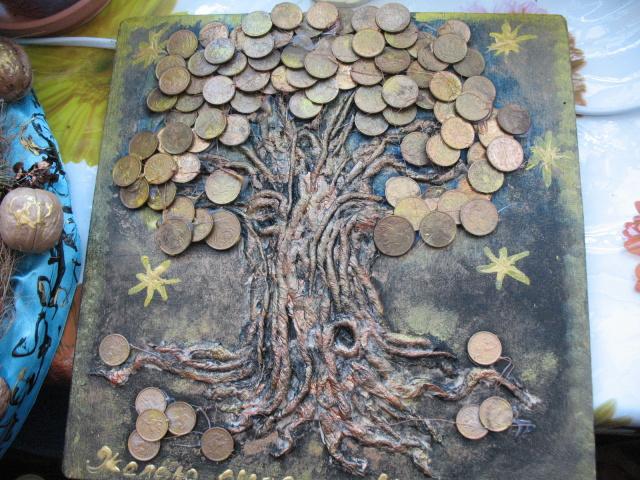 Как сделать денежное дерево своими руками из купюр и монет: пошаговая инструкция. Денежное дерево – топиарий, из бисера