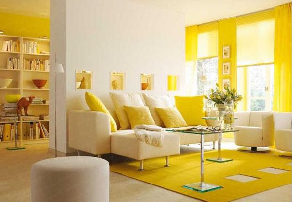 Элегантная желтая гостиная
