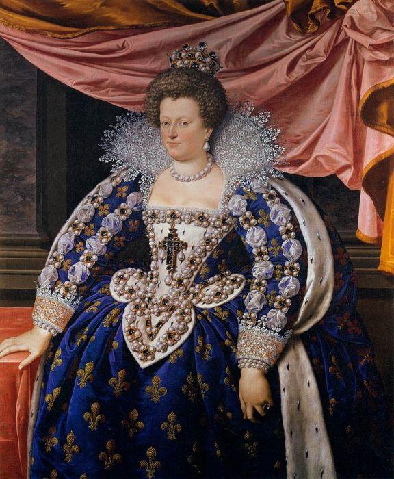 XVII век отличался очень тяжелыми парадными нарядами, перегруженными драгоценностями и тканями