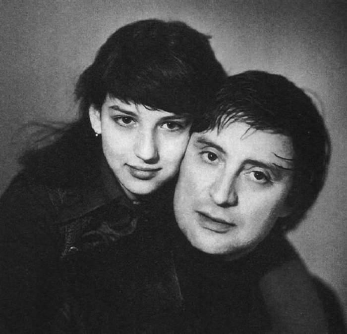 Алика Смехова с любящим отцом.