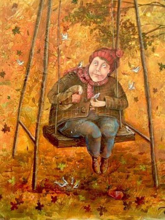 Осенние качели. Автор: Яна Фефелова.