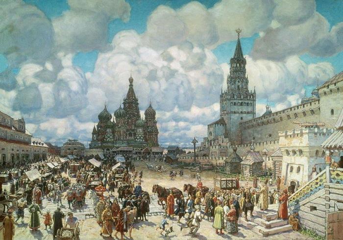 А. Васнецов. Красная площадь во второй половине XVII века