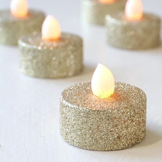 Gold-Glitter-LED-Tea-Lights