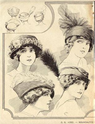 Женские шляпы в журнале La Modiste Parisienne за 1913-й год