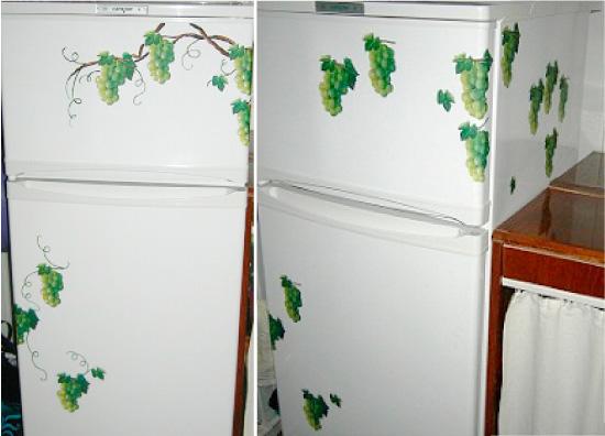 Декупаж холодильника своими руками