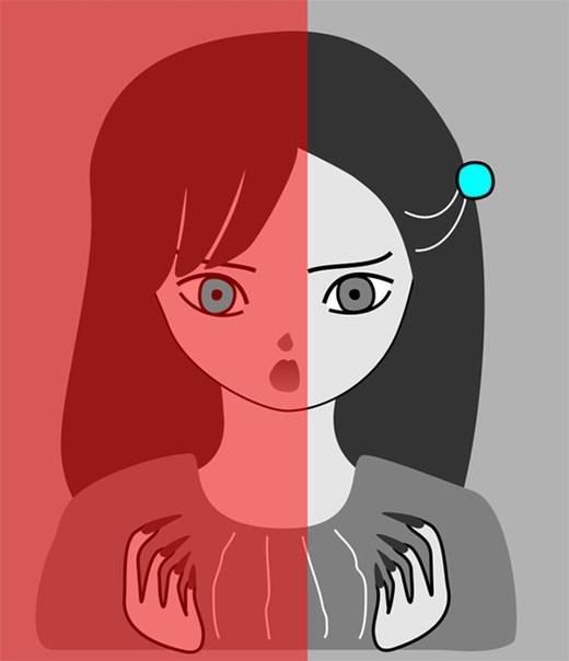 оптические иллюзии, цвет