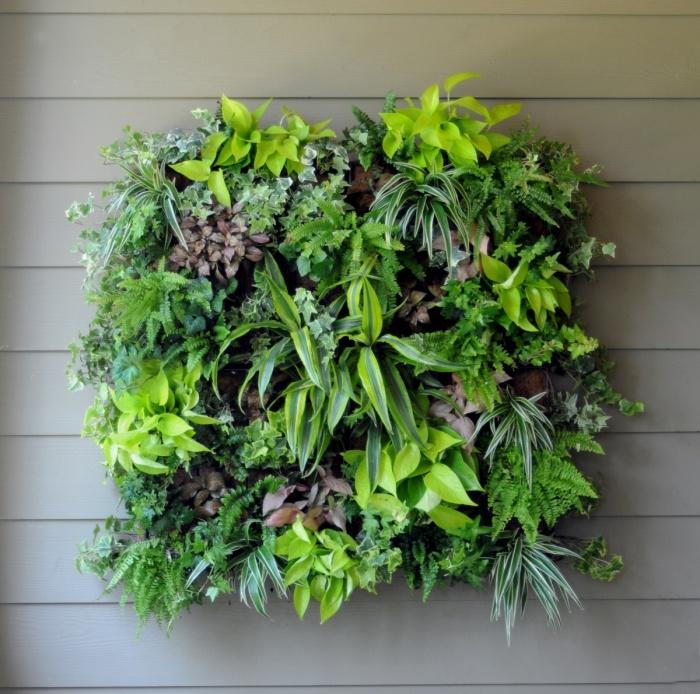 «Невидимая» вертикальная конструкция для выращивания цветов и растений.
