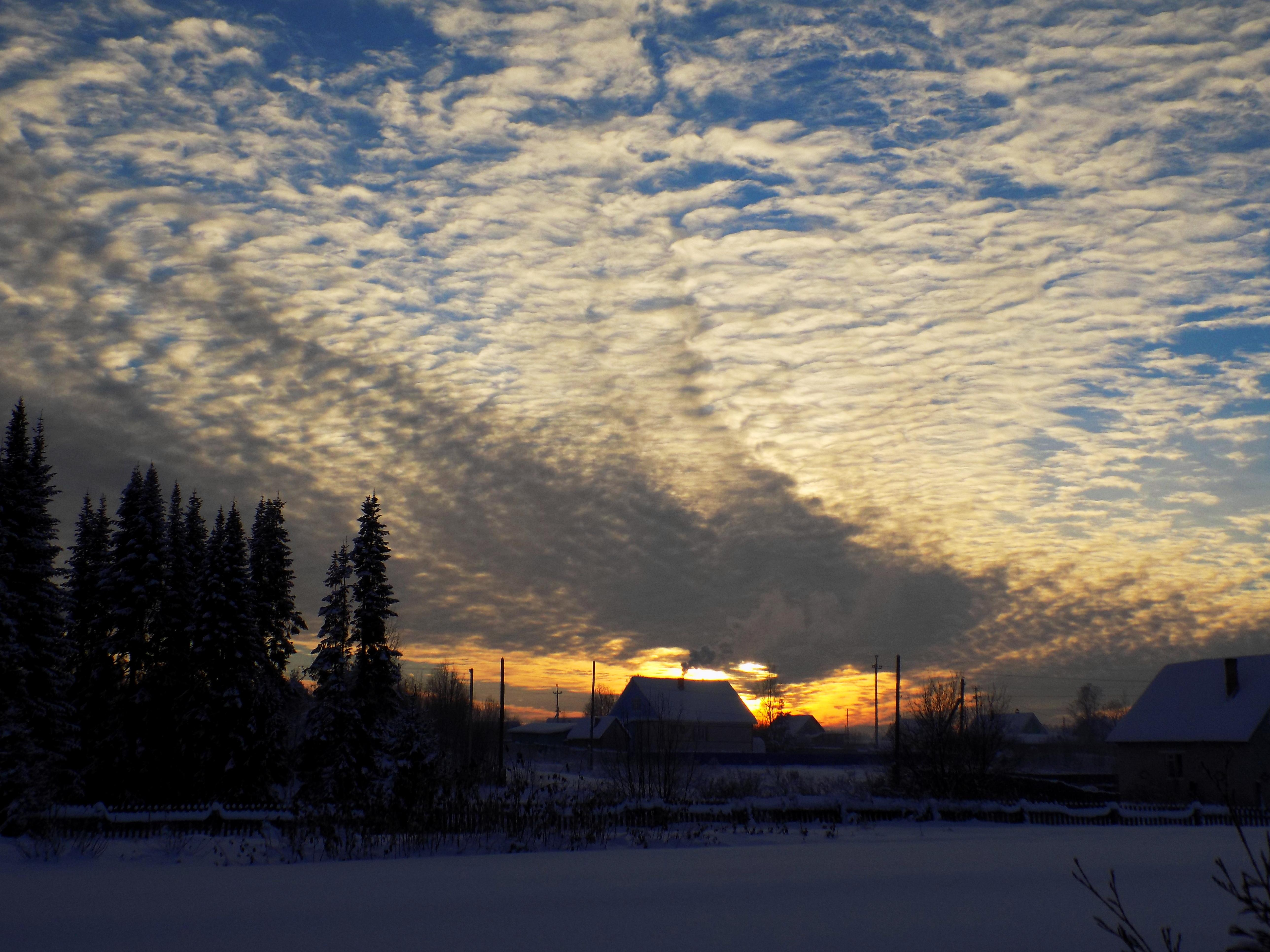 фотографии облаков зимой хорошая