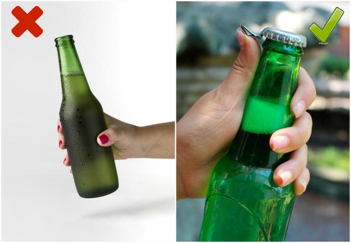 Правильно держать пивную бутылку. | Фото: Freepik, Full Service Circus.
