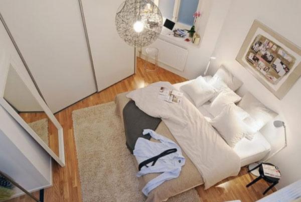 Дизайн спальни в ультра белом цвете