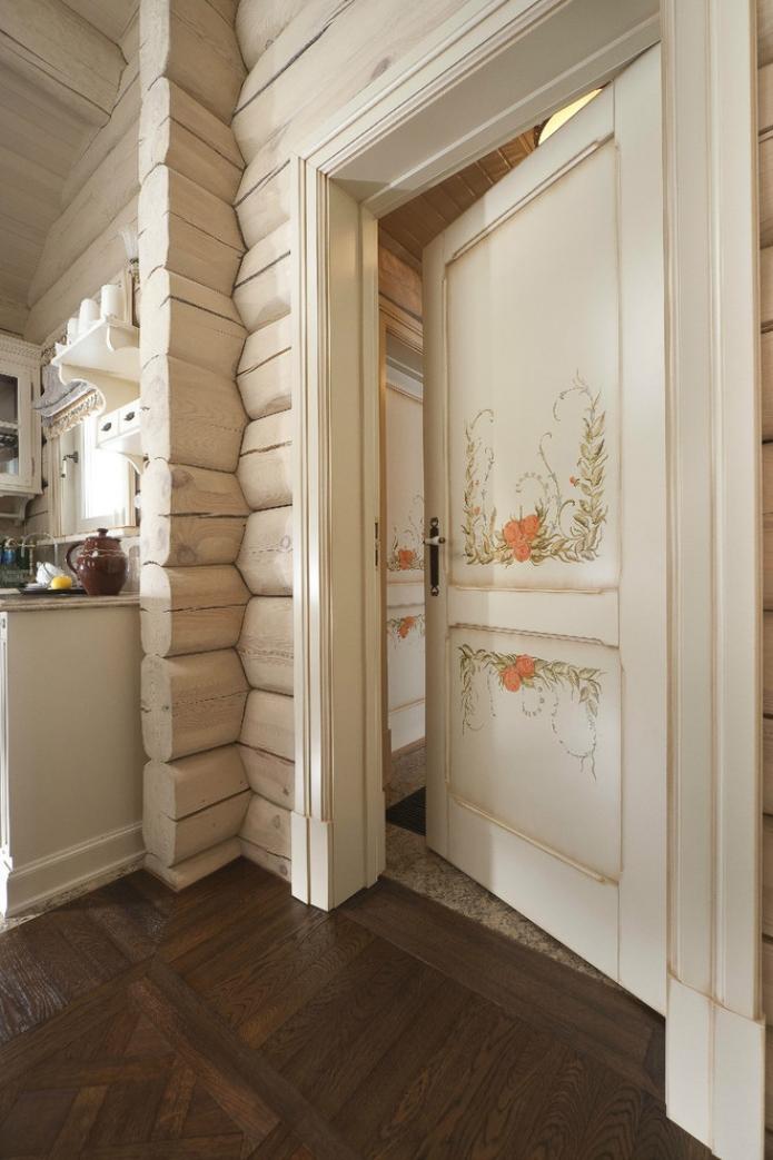 межкомнатные двери с росписью